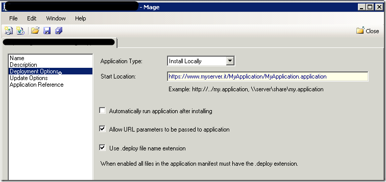 Move a click once deployed application between servers