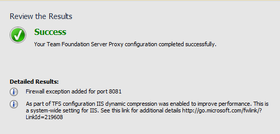 Installing on-premise component against TFS Service (TFS On