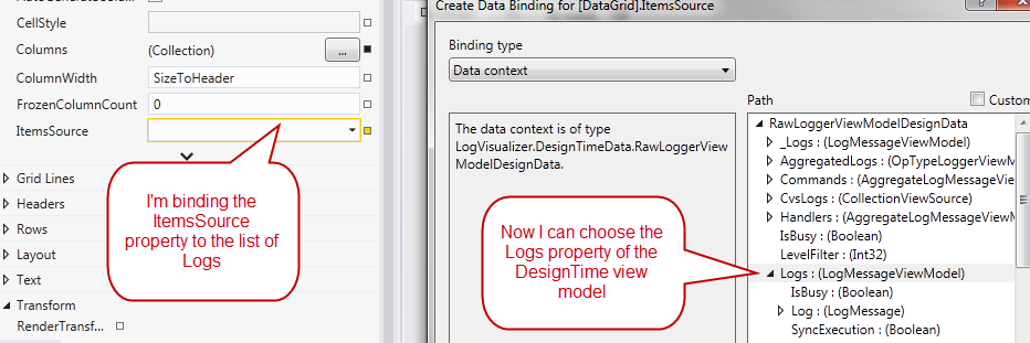 Wpf And design time data part 2–Use a concrete class
