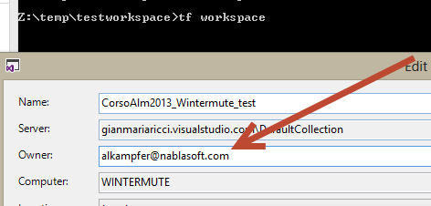 Change user of a workspace in TFS – Alkampfer's Place