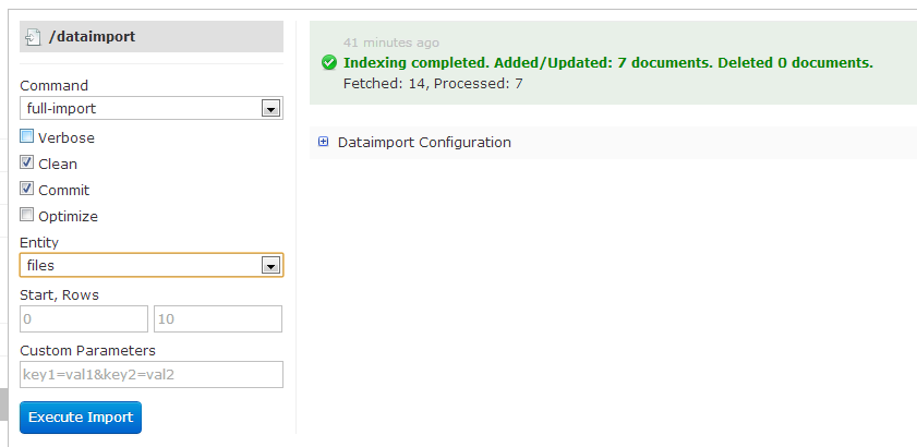 Import folder of documents with Apache Solr 4 0 and tika