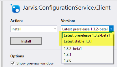 Verify that in Visual Studio stable and Pre-Release package is ok.