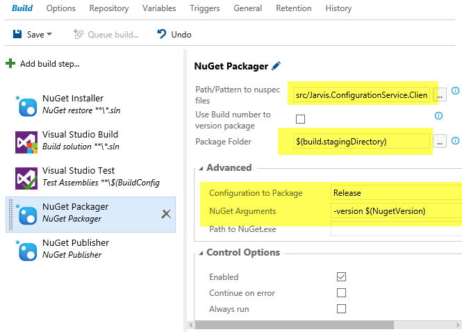 How to configure Nuget Packager to create your package.