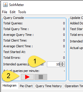 How to specify number of query per seconds and then running the test pressing start button.
