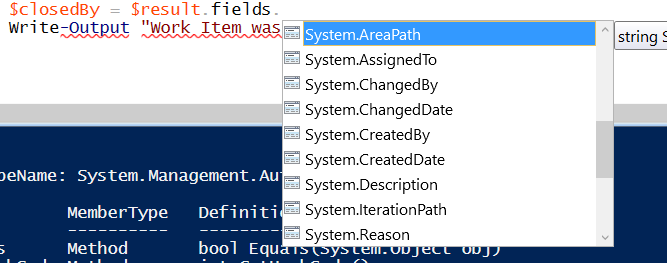 Getting Work Item Data in Powershell Through REST API