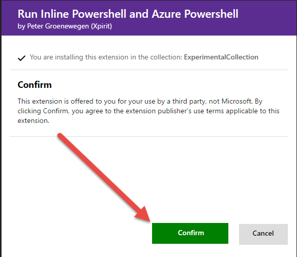 Execute powershell code during a build in TFS 2015 Update 2