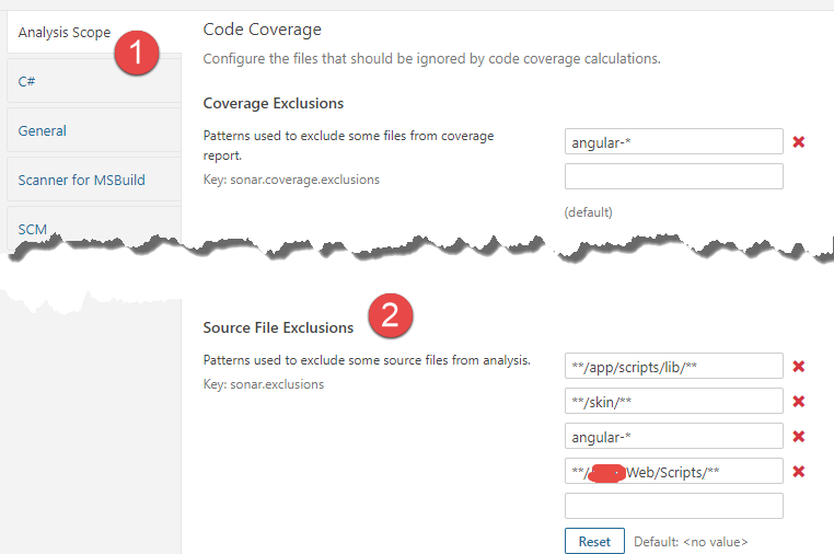 Exclude Folders from SonarQube analysis – Alkampfer's Place