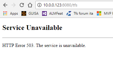 """Troubleshoot """"service unavailable"""" in TFS – Alkampfer's Place"""