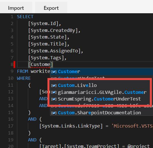 WIQL editor extension For Azure DevOps – Alkampfer's Place