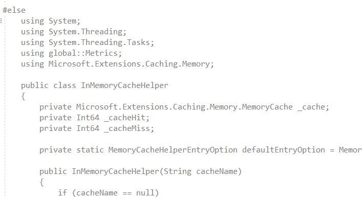 No highlight and no intellisense because we are in a conditional compilation branch that evaluates to false.